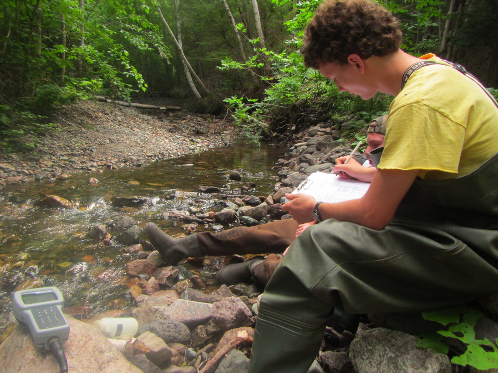 Antoine recording results from the probe and other important ecological information.