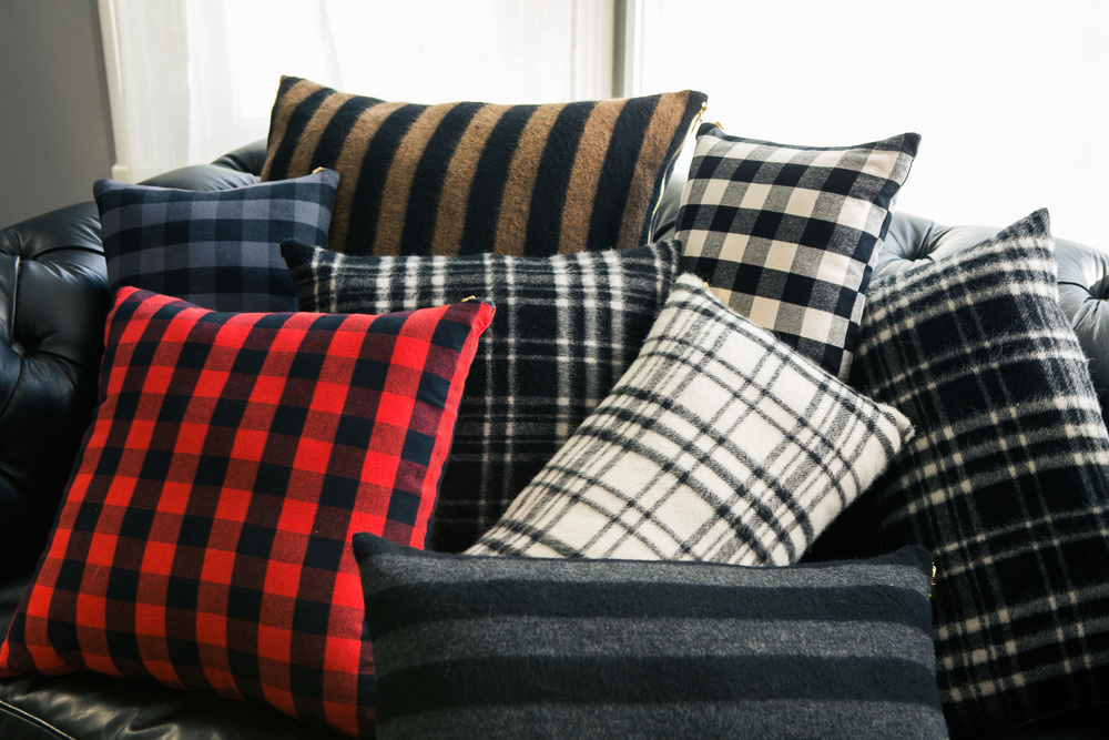 New collection of Buffalo Check, Striped and Plaid Pillows.
