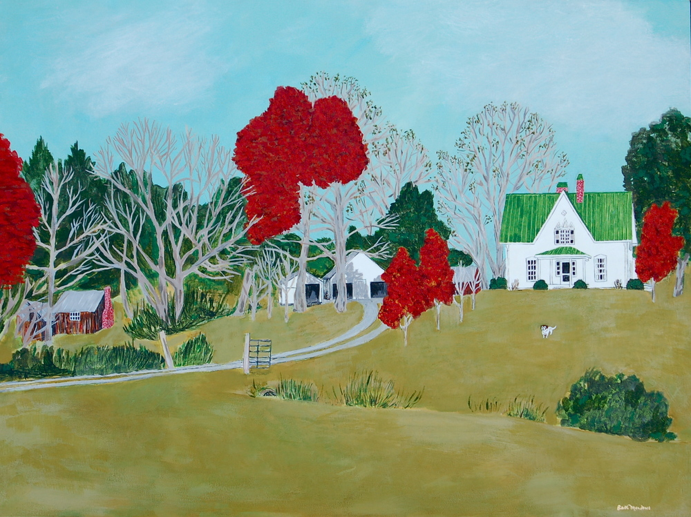 Murphy Farm acrylic on panel 18 x 24""