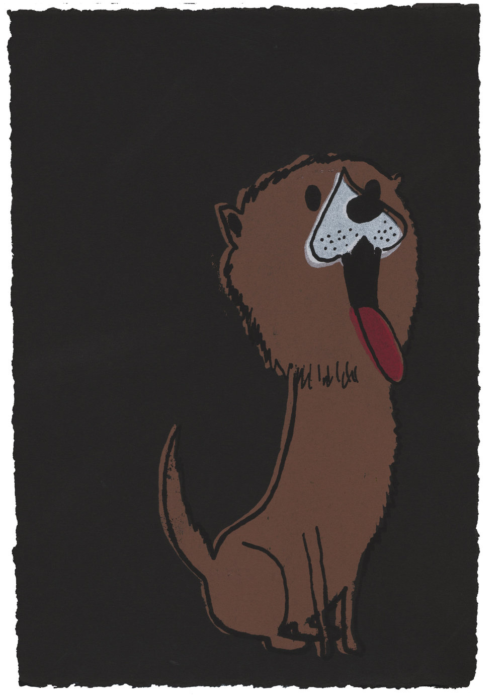 Lion Dog screenprint 2006