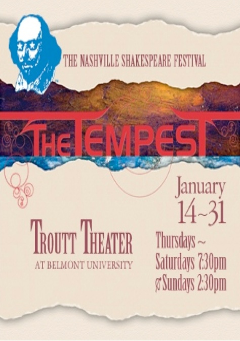 """""""The Tempest"""" Concert Poster"""
