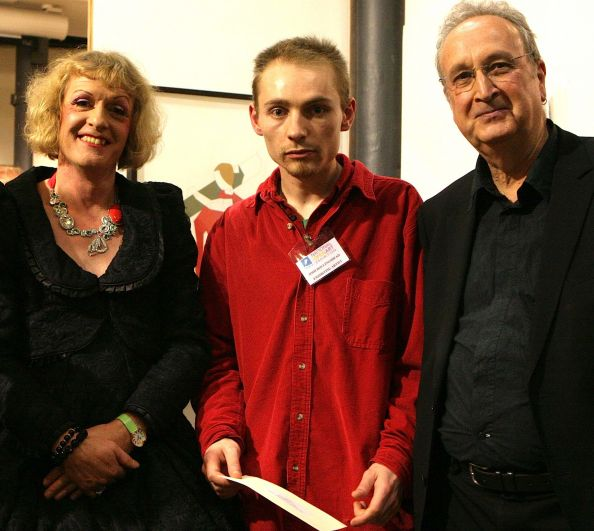 The University of Chichester Award was presented to me by Professor Clive Behagg and Grayson Perry.
