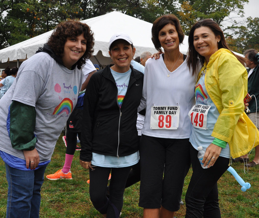 Social worker Jennifer Cohen, nurse Donna Parente, nurse Debbie Pantera and social worker Marisol Lassalle enjoyed seeing patients, and each other, outside the hospital.
