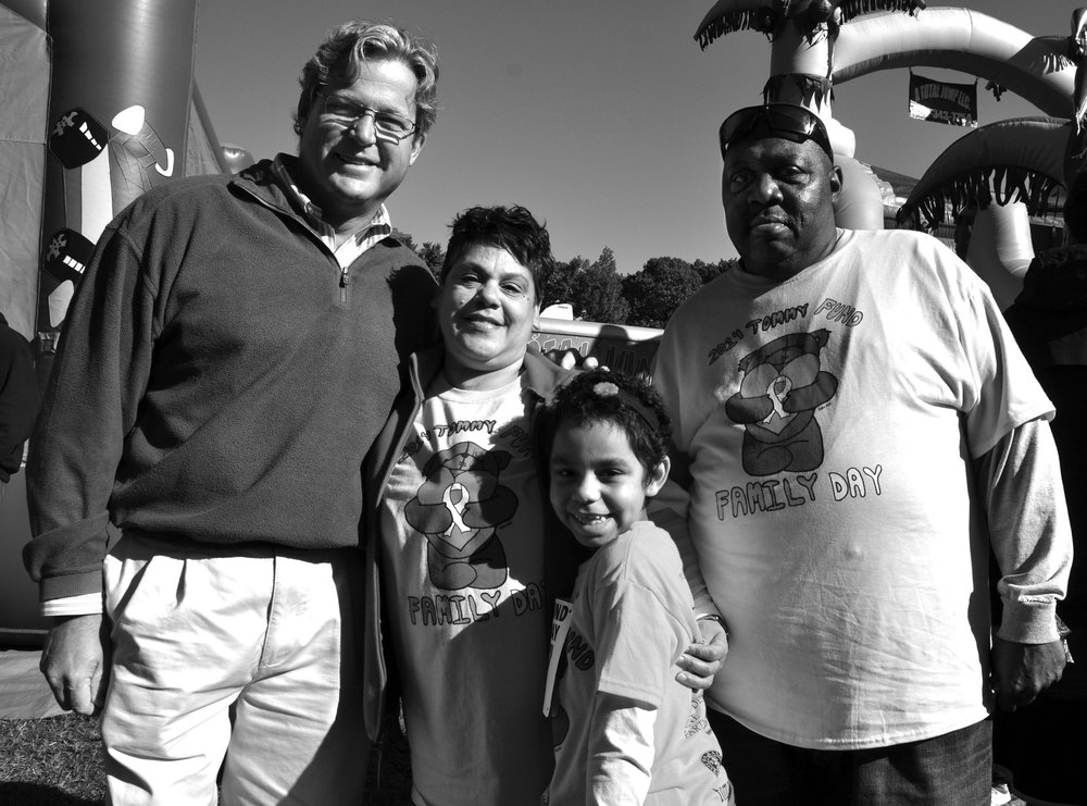 Jaelynn Grullon is excited to meet State Rep.Ted Kennedy, Jr., because they are both survivors of pediatric bone cancer. Jaelynn enjoyed Family Day 2014 with her grandmother, Sandra Garcia and her grandfather, Jerome Williamson.