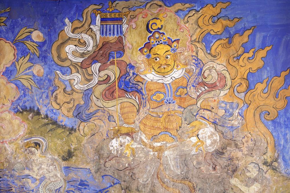 India-Ladakh-Travel-Leh-Thiksey-Buddhist-Monastery-Mural.JPG