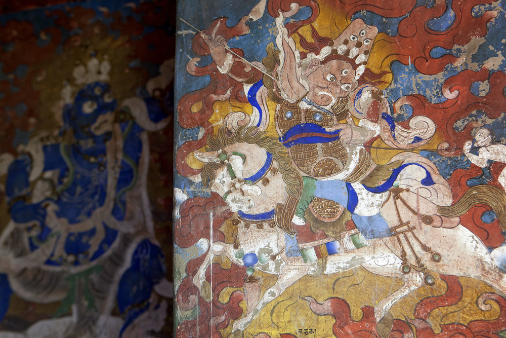 India-Sikkim-Travel-Dubdi-Monastery-Mural.JPG