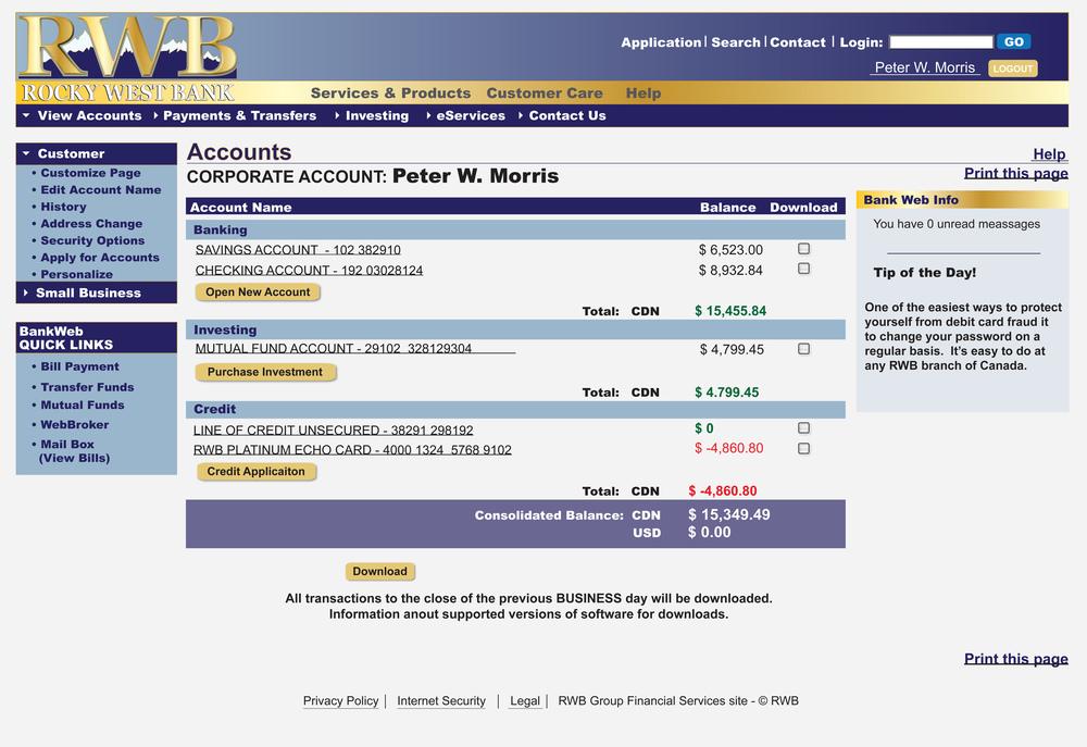 Web Banking Page - Heartland Season 6