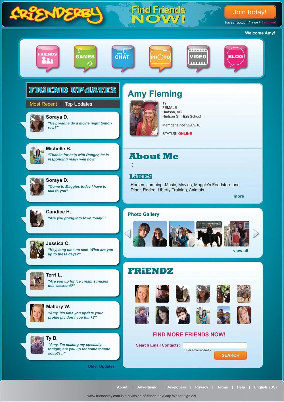 Social Network Webpage - Heartland Season 5