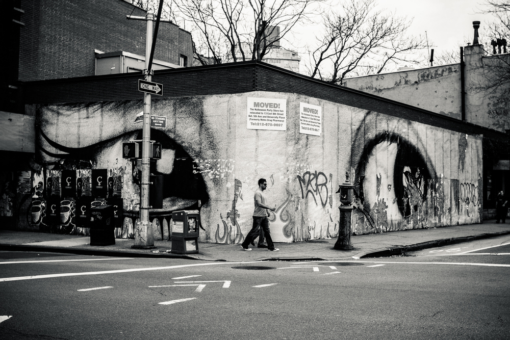 Mural in west village, NYC shot a few months ago