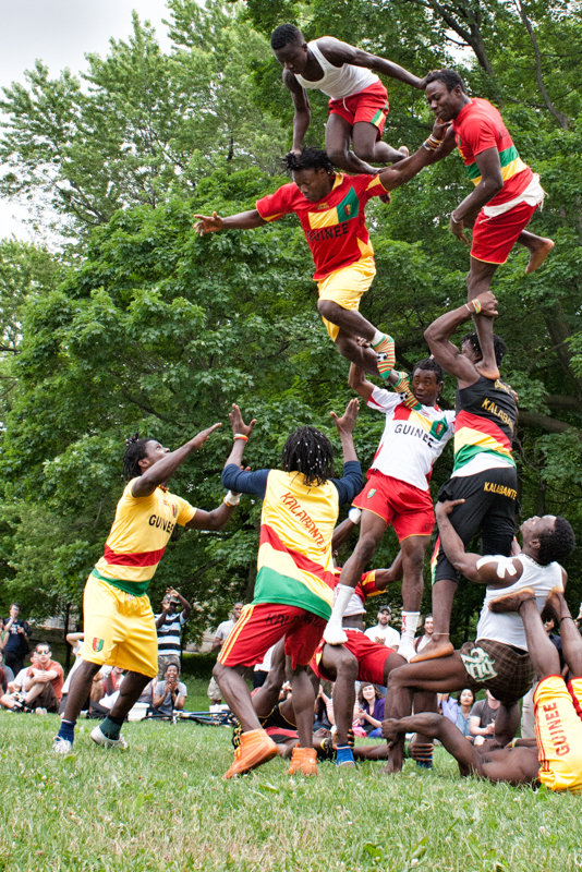 Great street show in Mont Royal Park in Montreal last summer