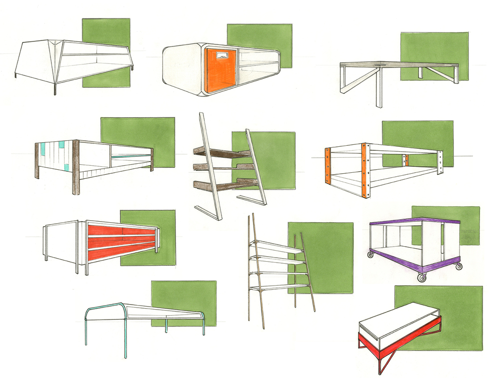 A collection of flat pack and ready to assemble furniture for HUISEN to be sold at Walmart or Target.