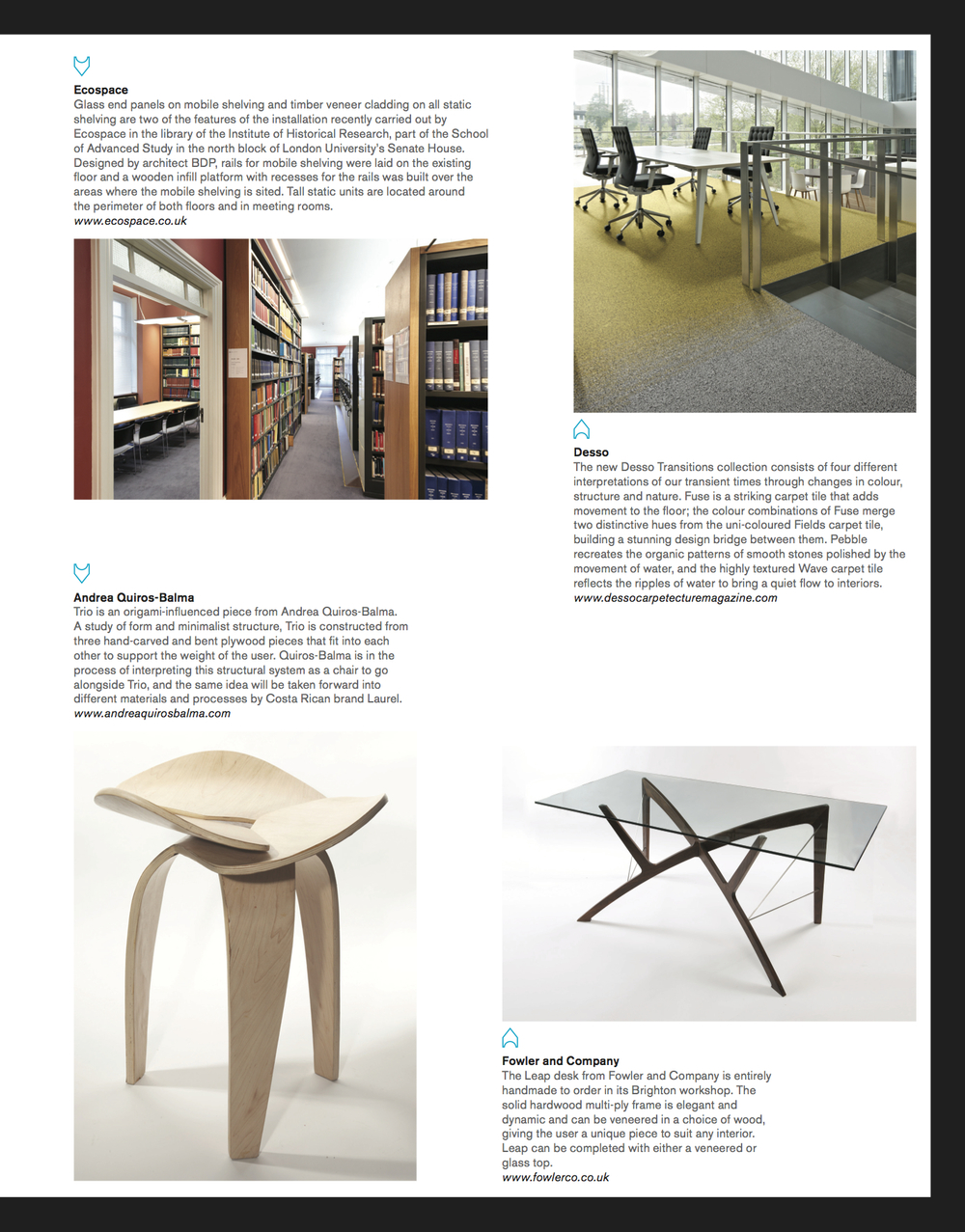 Icon Magazine. January 2015.    http://www.iconeye.com/products/item/13-seating/1839-trio