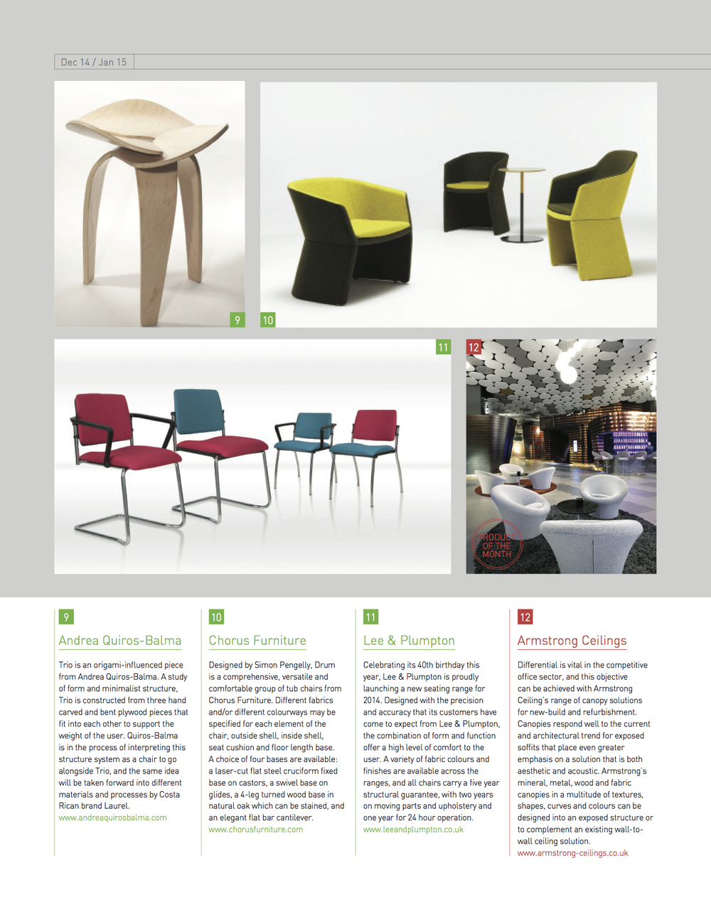 On Office Magazine. December/January 2015 http://www.onofficemagazine.com/directory/item/3417-trio-andreas-quiros-balma