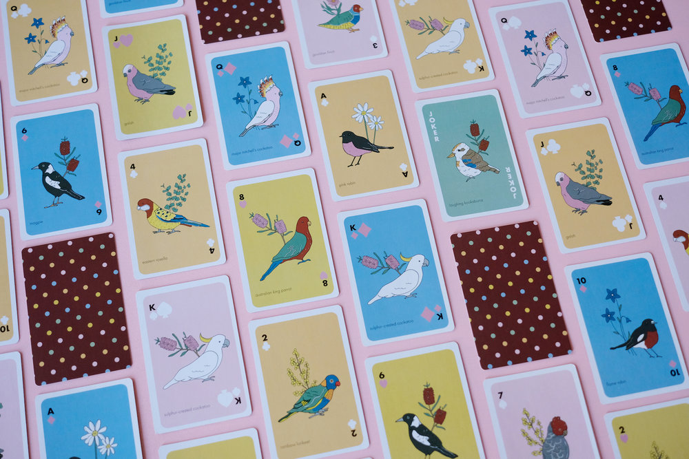 Birds of Australia Playing Cards
