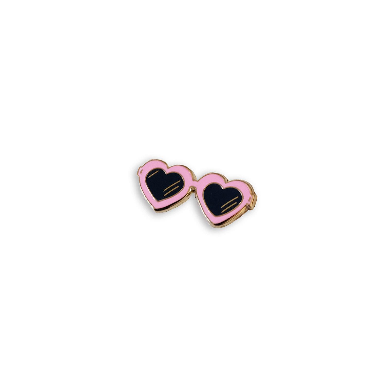 Heart Sunglasses Enamel Pin — McKean Studio