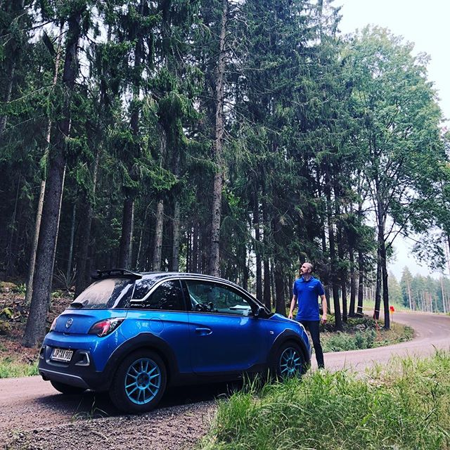 #epicreccepose .. Looking at the spitting sky here at the end of the Recce for the East Swedish Rally, curious as to how the weather will be the next two days.  Regardless, I'm grateful and excited to be back on Gravel this weekend and back behind the whee of the Adam R2!! #morepower #stoked #epicpose #notreally #stillstoked #rally #gravel #grateful #excited