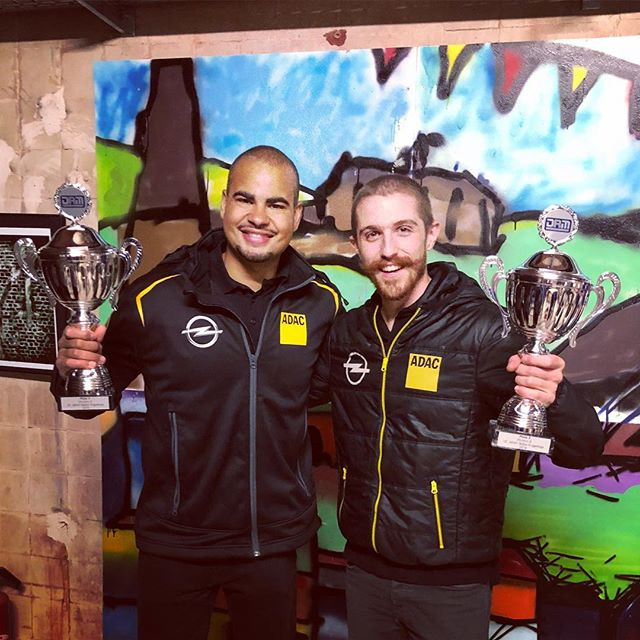 So this happened!! 2nd place in the ADAC Opel Rallye Cup at  #rallyeerzgebirge!! @alexkihurani and I were able to secure our first ever podium together, and the first of my short rally career!  So grateful to @audex.motorsport for the incredible support, the busy schedule of 3 rallies this month has certainly paid off!  More pics and info to come in the next days, but now it's time to sleep after two flat out days #stoked #trophies #mustache #sleepy #grateful #rally #ilovethissport #booyah #deleriouslytired