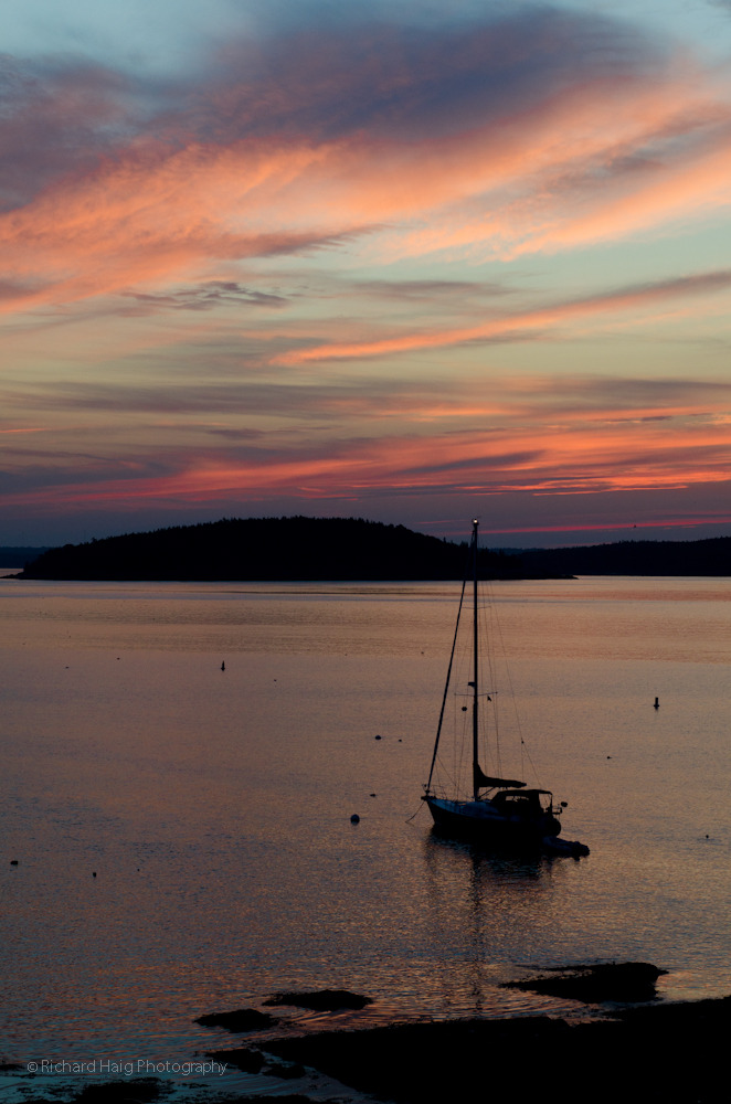 Early morning - before sunrise in Bar Harbor