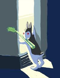 """Suzie, as rendered by Kris Jaques in the form of """"Bunnicula."""""""