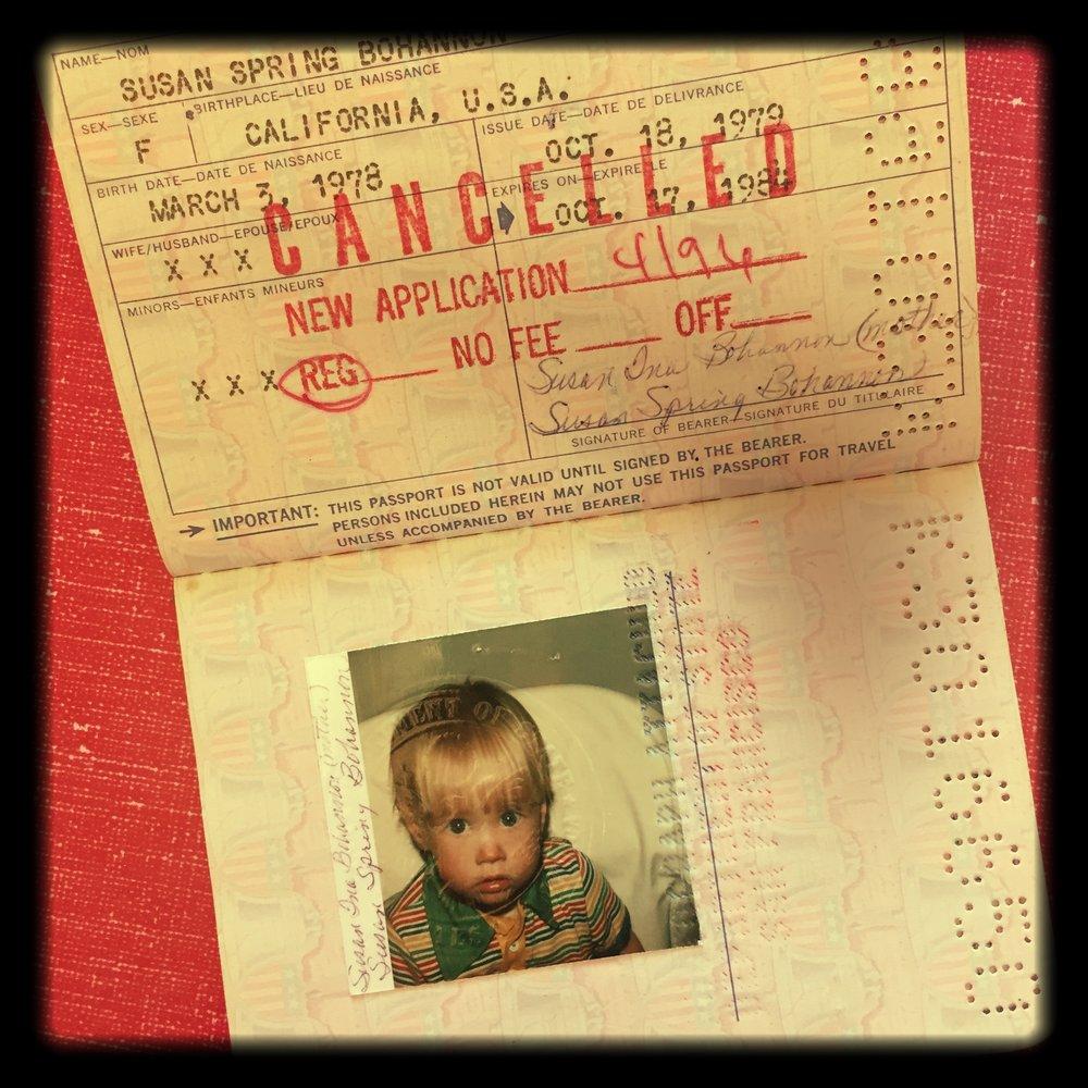 Globe trotting at 18 months old, 1979 U.S. Passport