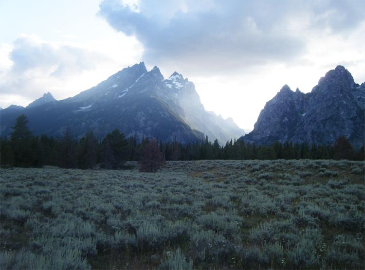 Sunset in Grand Teton National Park - 2009