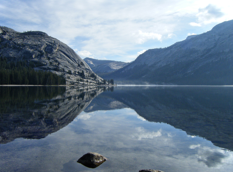 Peace and quiet on the banks of Tenaya Lake in Yosemite National Park - 2011