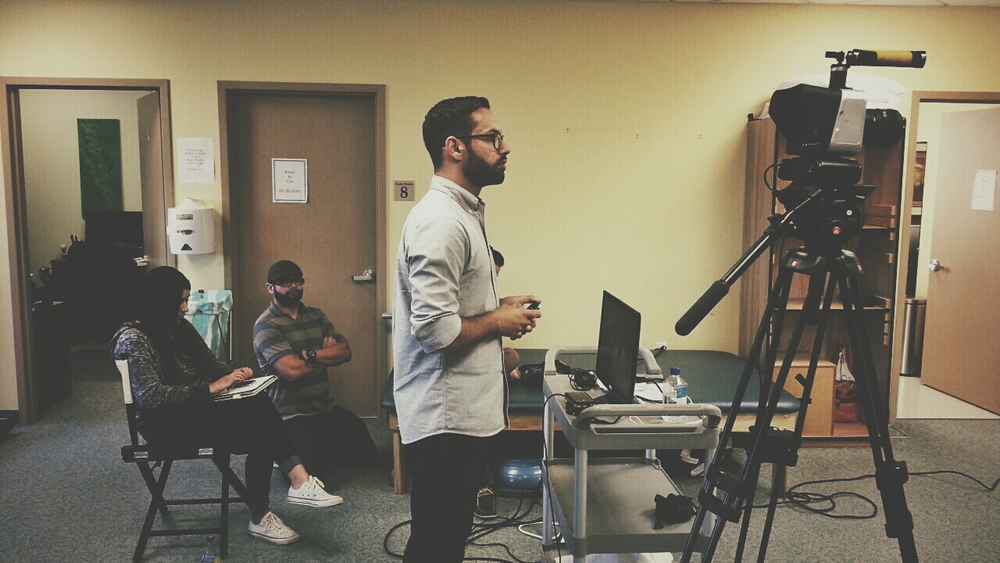 Directing a promo video for a client last week.