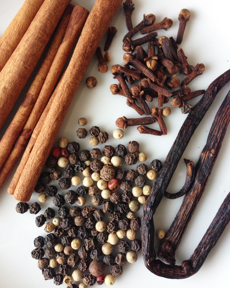 A few of the spices I like to use in mulled wine.