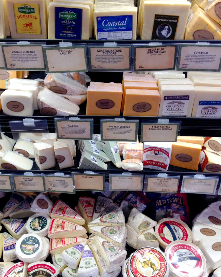 So many choices! Ask your grocer to help you create the perfect cheese plate.