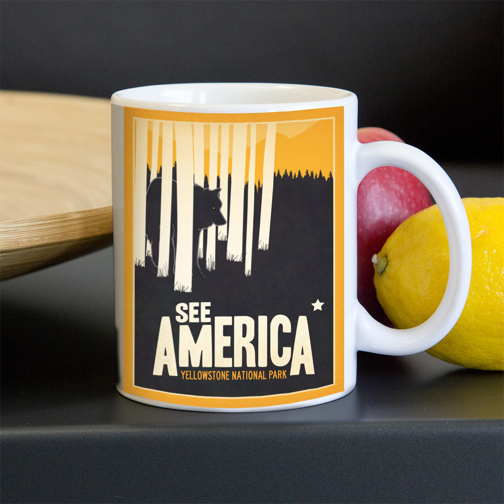 Yellowstone National Park Mug by Matt Brass