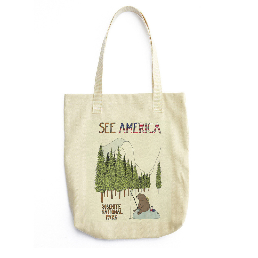 Yosemite National Park Tote Bag by Naomi Sloman