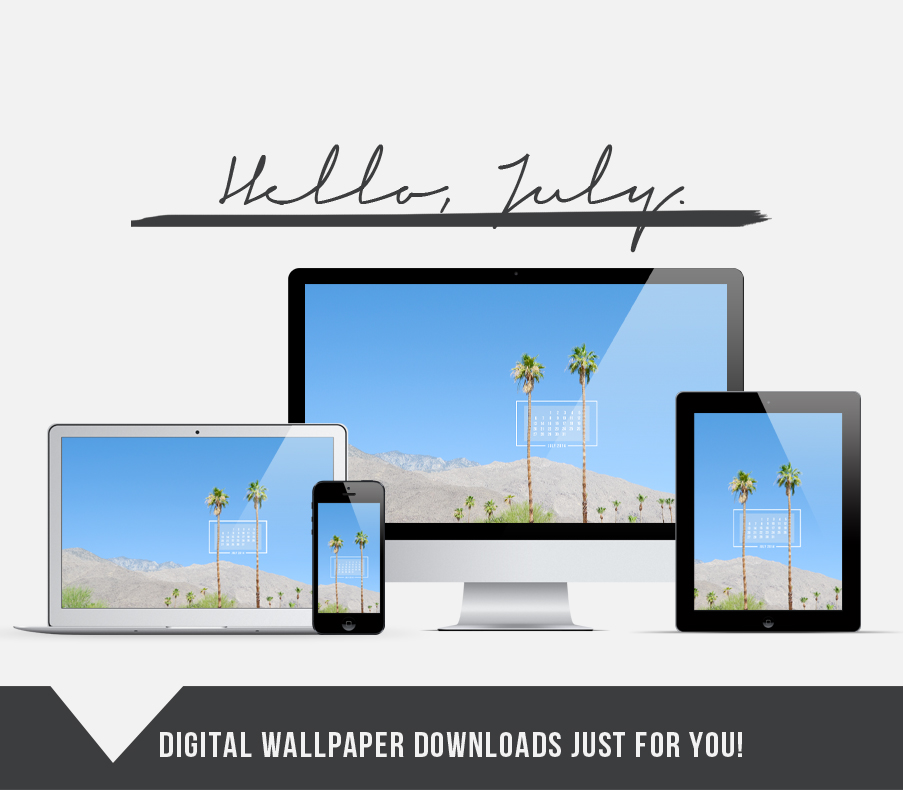 Summertime in the Desert // FREE July 2014 wallpaper download!
