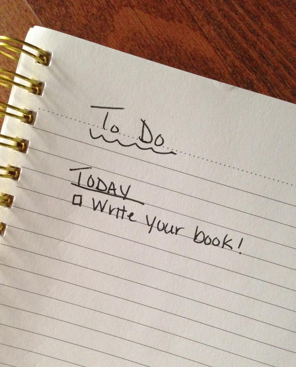 Write Your Book: The Longest To-Do List // jenniferesnyder.com