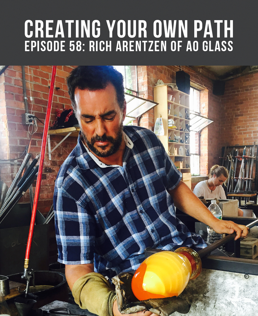 Rich Arentzen of  AO Glass  // Photo:  Eli Atticus Jager
