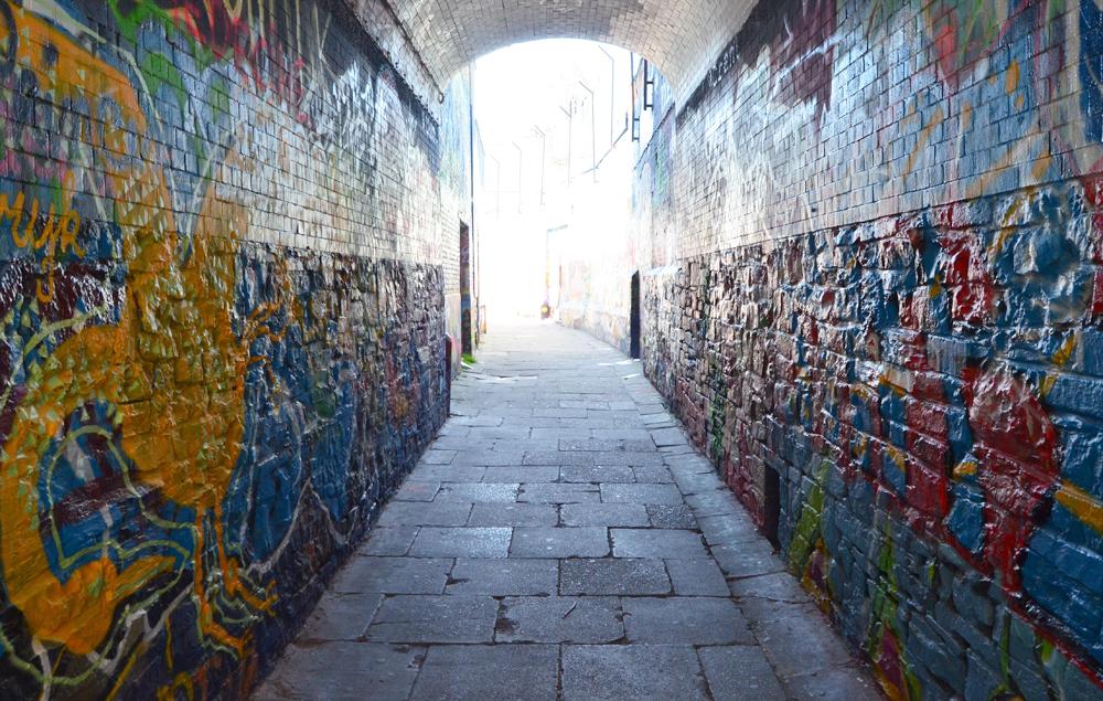 Graffitistraatje //Graffiti Street // Ghent, Belgium
