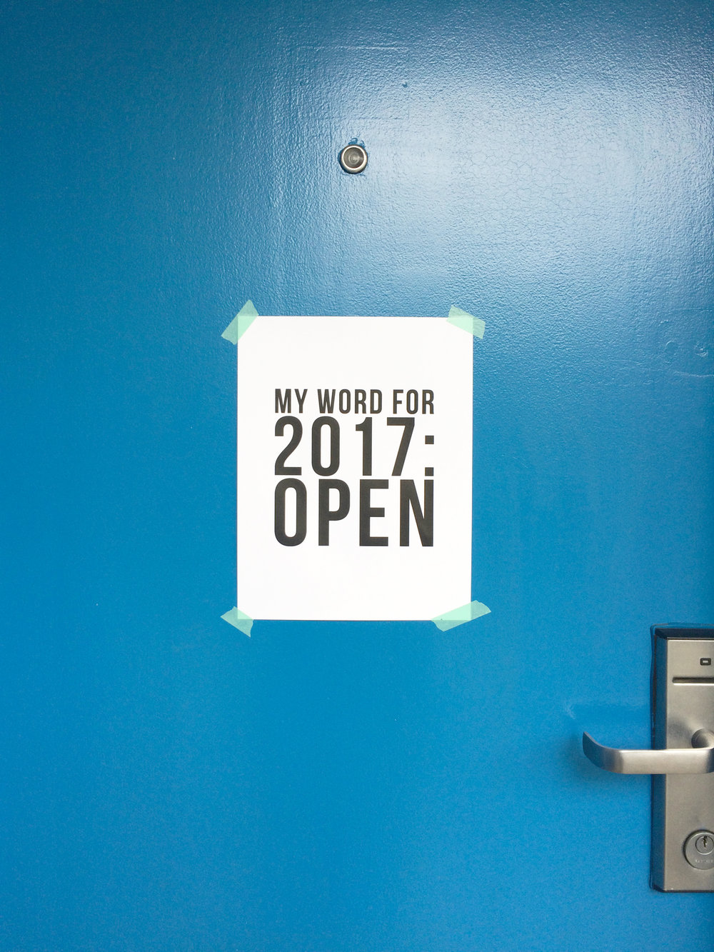 My Word for 2017: Open // jenniferesnyder.com