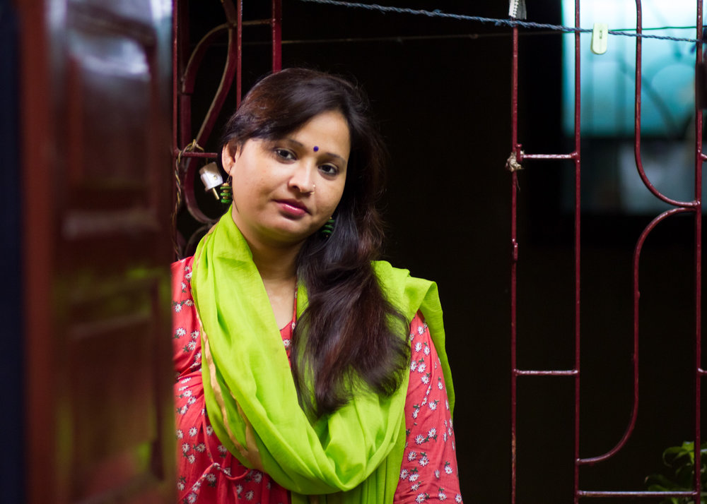 Shahina Javed, 29yrs of age. Images taken at her home in Rajabazar, Kolkata