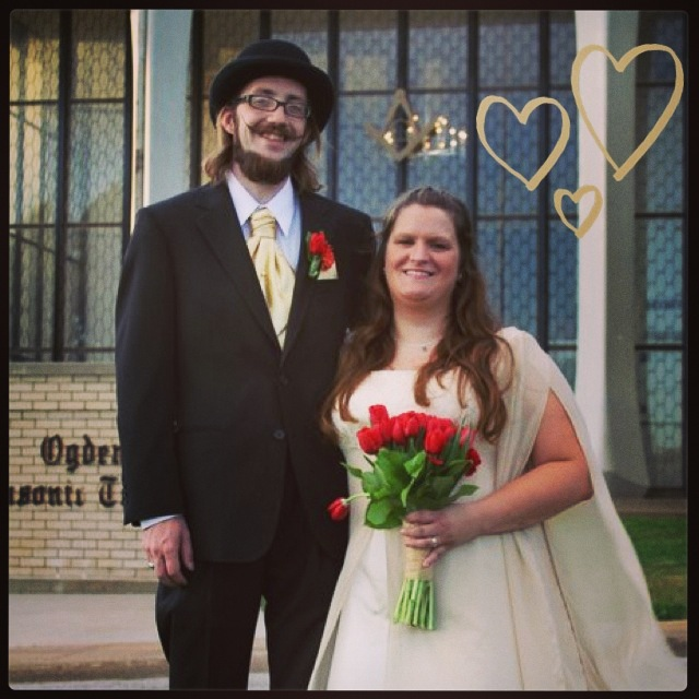 Married August 1, 2011 at the Ogden Utah Masonic Temple