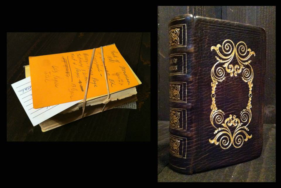 1841 Book of Mormon. Complete rebinding to match the deluxe edition from Liverpool.