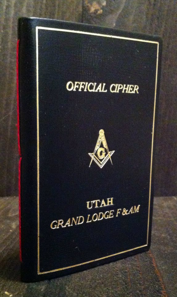 A pamphlet binding of a masonic cipher.