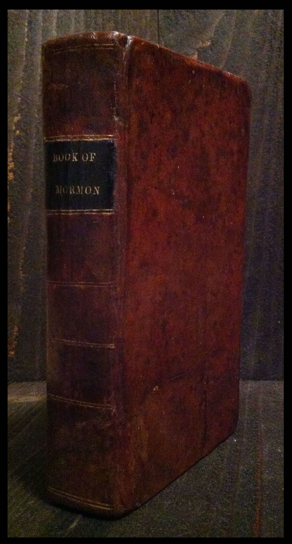 An 1830 first edition Book of Mormon.