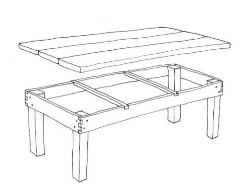 Projects At Eidolon Easy Diy Pine Wood Table Plans Eidolon House