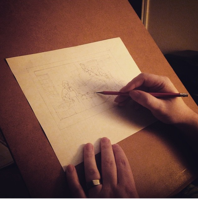 Process shot Joseph shared on Instagram #revolutionexchange2015.