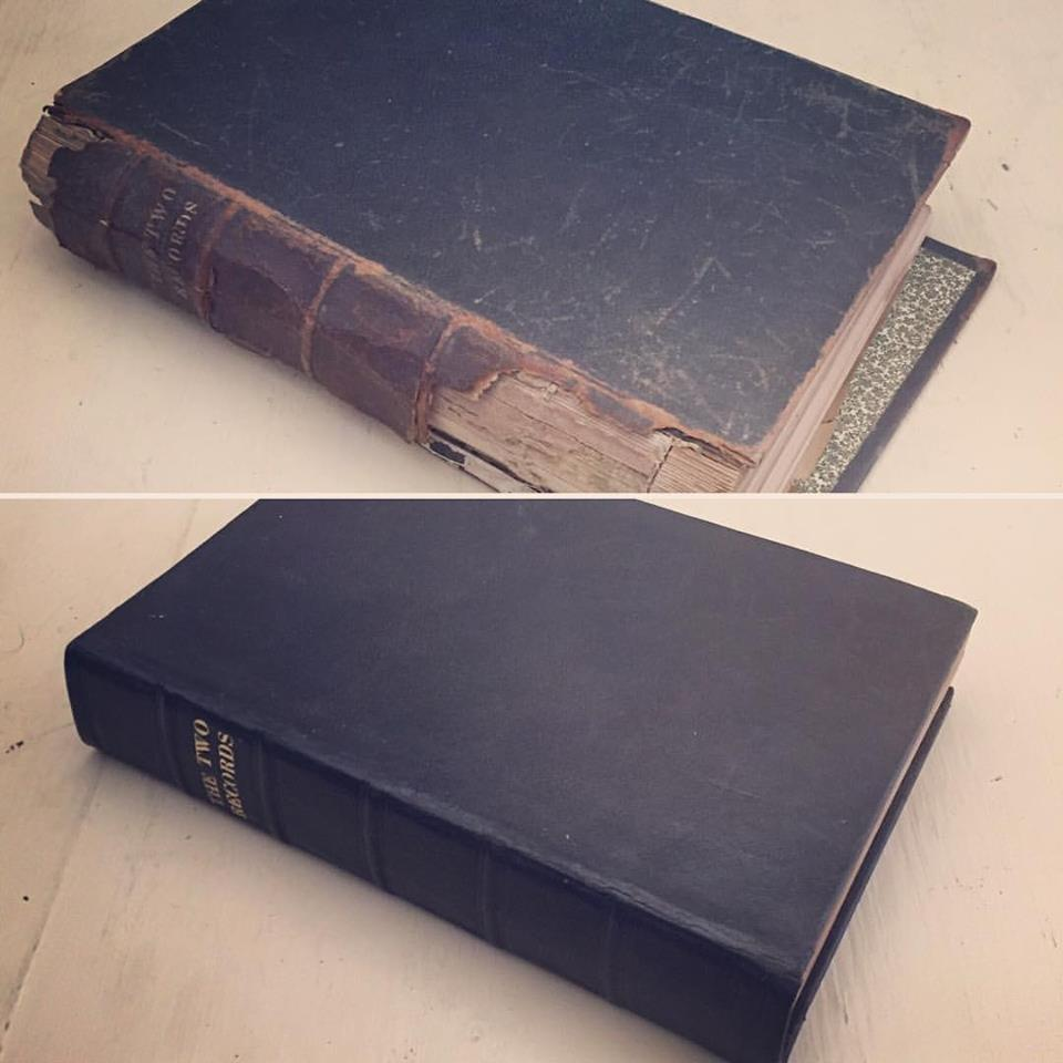 19th C. Book Restoration.