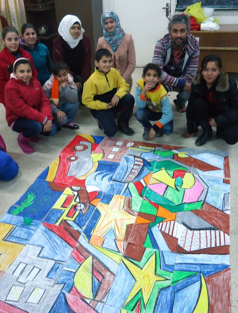 START workshop at el-Hussein refugee camp in Jordan. Courtesy of START.