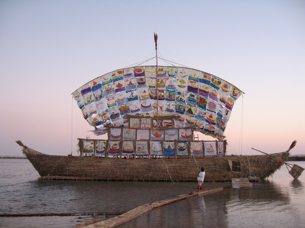Ilya and Emilia Kabakov,  Ship of Tolerance,  2005-Present. Photo: Jenia Fridlyand. Courtesy of the artists.