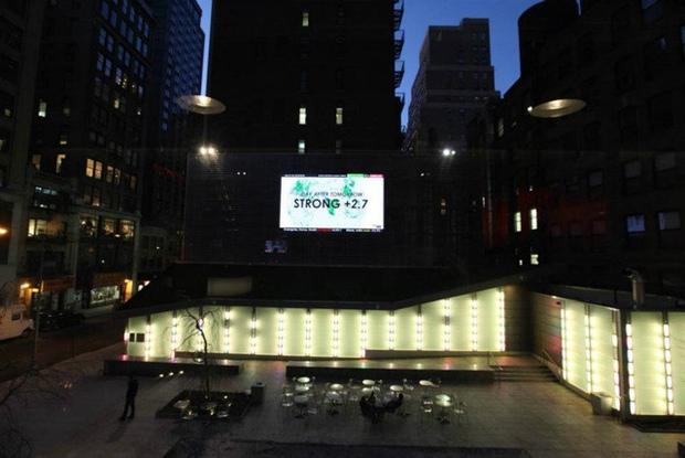 Maurice Benayoun, Emotion Forecast , 2012, installation view at Big Screen Plaza, NYC. Courtesy of the artist. Photo: David Bates, Jr.