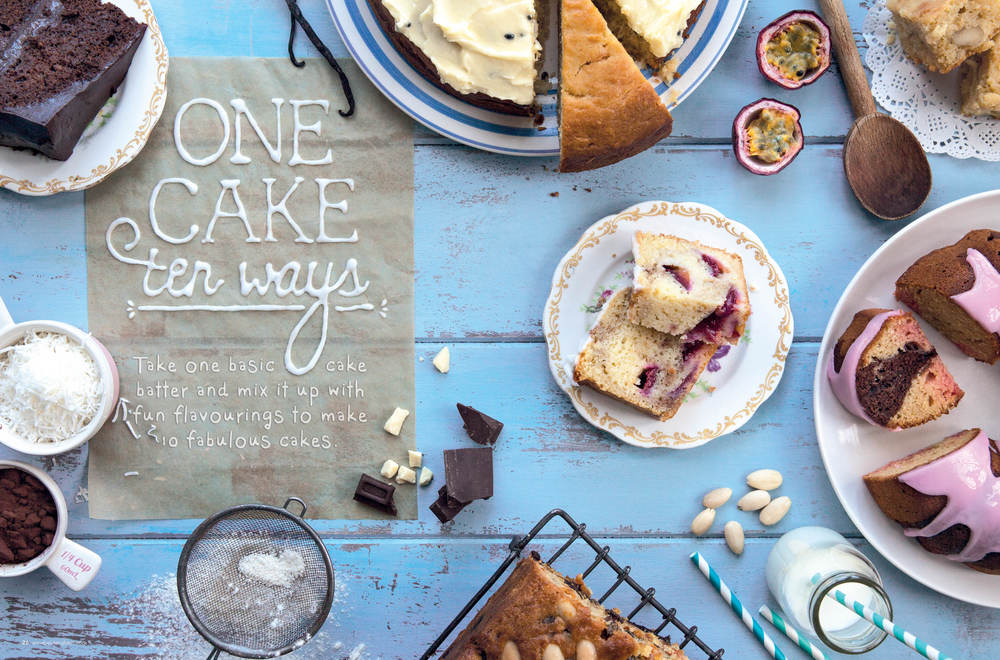 Annabel Langbein Endless Summer One Cake 10 Ways Photography + Food Typography