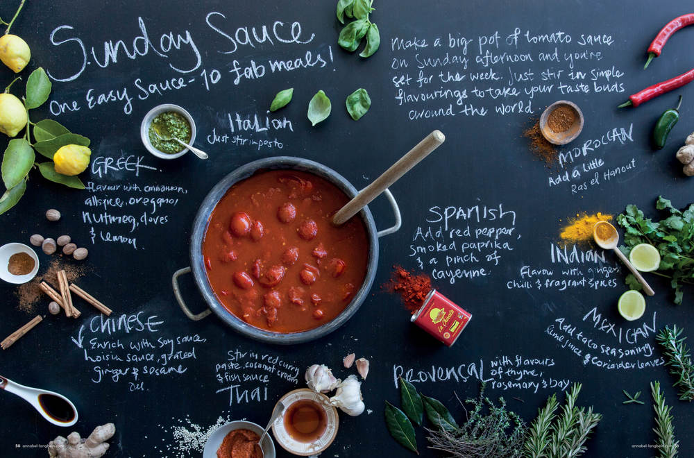 Annabel langbein Winter Goodness Sunday Sauce Editorial Photography, styling, typography
