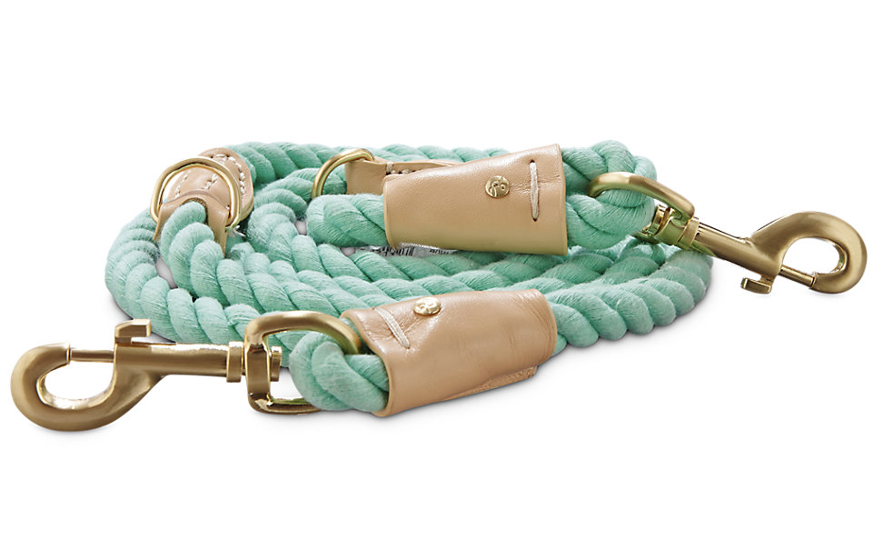Bond & Co Turquoise & Buff Rope Dog Leash, 6Ft $20.99